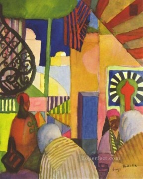 In The Bazar August Macke Oil Paintings